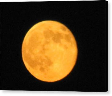 Canvas Print featuring the photograph Havest Moon by Shawn Hughes