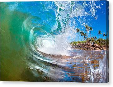 Michael Sweet Canvas Print - Hawaii Green Glass by Michael Sweet