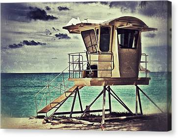 Canvas Print featuring the photograph Hawaii Life Guard Tower 1 by Jim Albritton