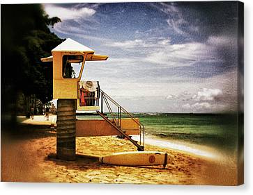 Canvas Print featuring the photograph Hawaii Lifeguard Tower 2 by Jim Albritton