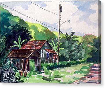 Hawaiian Home Canvas Print by Jon Shepodd