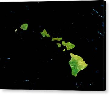 Hawaiian Islands Chain Canvas Print by Karen Nicholson
