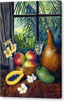 Hawaiian Still Life Canvas Print by Anne Wertheim