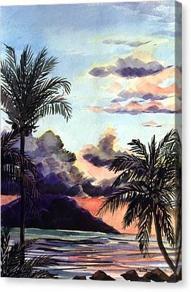 Hawaiian Sunset Canvas Print by Jon Shepodd