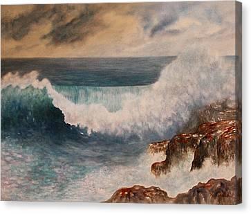 Hawaiian Wave Canvas Print by Kerri Ligatich