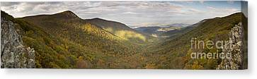 Hawksbill Mountain And Newmark Gap From Crecent Rock Overlook Canvas Print by Dustin K Ryan