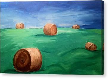 Hay Bails Canvas Print