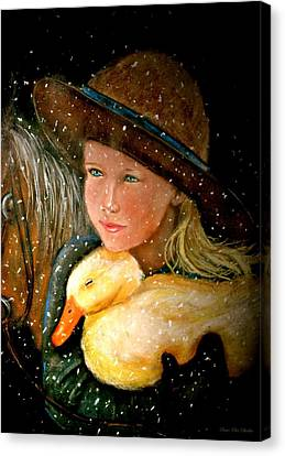 Canvas Print featuring the painting Hayden by Susan Elise Shiebler