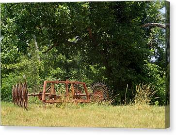 Pastue Canvas Print - Hayrake Put Out To Pasture 2 by Douglas Barnett