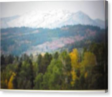 Canvas Print featuring the photograph Haze Of Yellowstone by Shawn Hughes