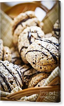 Hazelnut Cookies Canvas Print by Elena Elisseeva