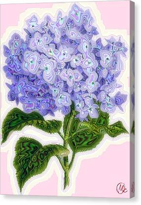 Canvas Print featuring the digital art Hazy Hydrangea by Mary M Collins