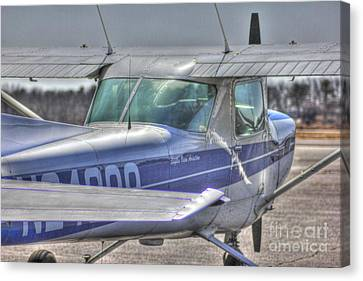 Hdr Airplane Single Prop Engine Canvas Print