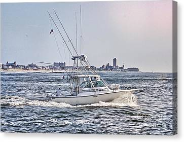 Hdr Fishing Boat Boats Sea Ocean Beach Beachtown Scenic Oceanview Photos Photography Pictures Photo  Canvas Print by Pictures HDR