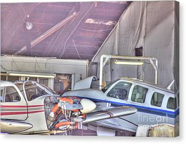 Hdr Planes Being Fixed Canvas Print by Pictures HDR