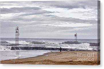 Hdr Two Light Towers Beach Beaches Ocean Sea Seaview Oceanview Photos Pictures Photography Photo Pic Canvas Print by Pictures HDR