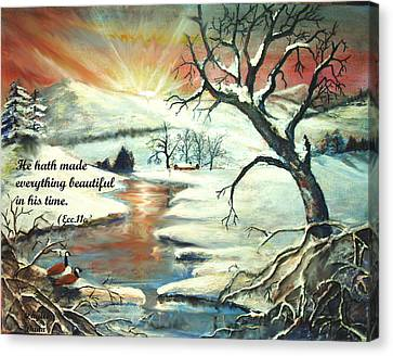 He Hath Made..... Canvas Print by Phyllis Dunn