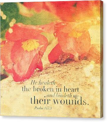 He Healeth The Broken In Heart And Canvas Print