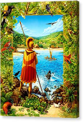 He Hula Ali'i Canvas Print by Anne Wertheim