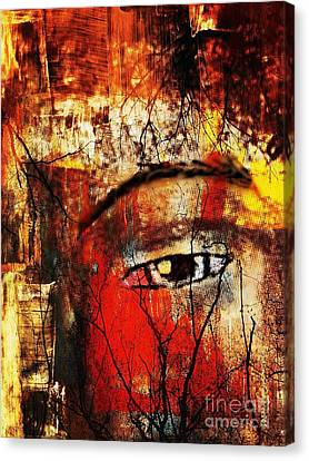 He Is Watching Canvas Print by Fania Simon