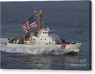 Law Enforcement Canvas Print - He U.s. Coast Guard Cutter Adak by Stocktrek Images