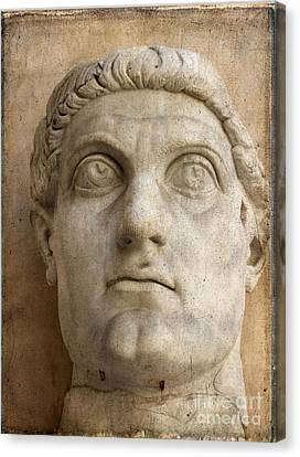 Head Of Emperor Constantine. Rome. Italy Canvas Print by Bernard Jaubert