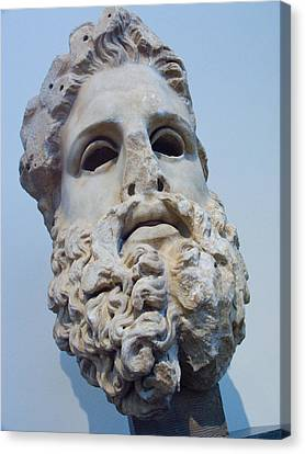 Head Of Zeus At The Acropolis Museum Canvas Print by Richard Nowitz