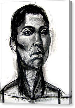 Canvas Print featuring the drawing Head Study by Gabrielle Wilson-Sealy