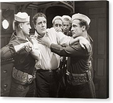 Fistfight Canvas Print - Head Winds, 1925 by Granger