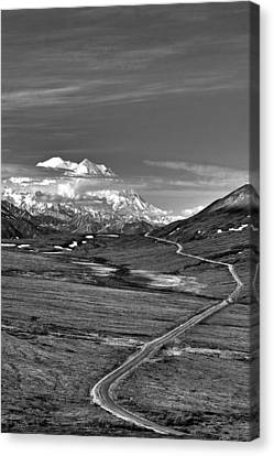 Headed To Mc Kinley D9746 Canvas Print by Wes and Dotty Weber