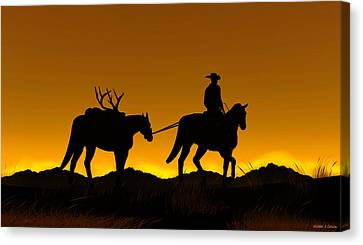 Heading Home Canvas Print by Walter Colvin