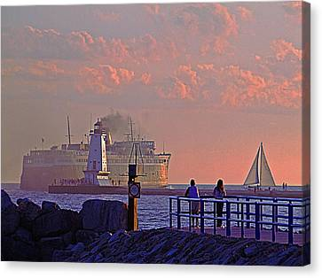 Heading West Canvas Print by Randall  Cogle