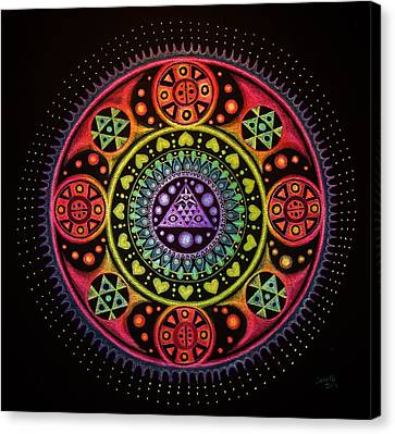 Meditation On Healing From Within Canvas Print by Janelle Schneider