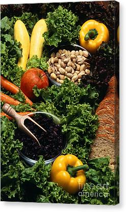 Healthy Foods Canvas Print by Photo Researchers