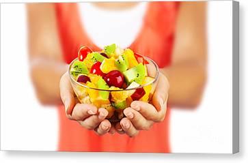 Healthy Fruit Salad Canvas Print by Anna Om
