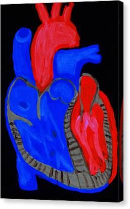 Heart A Glow Canvas Print by Lisa Brandel