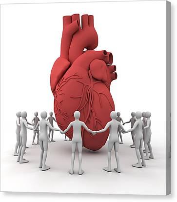 Heart Care, Conceptual Image Canvas Print by Pasieka