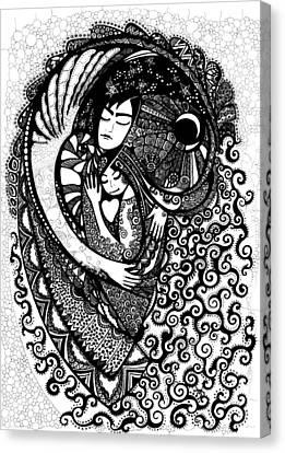Heart Canvas Print by Ievgeniia Lytvynovych