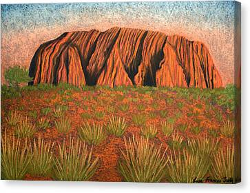 Heart Of Australia Canvas Print by Lisa Frances Judd