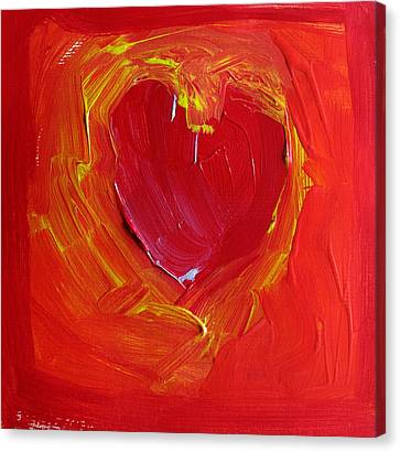 Heart Of Cupids Joy At The Moment Of Transformation Dripping Oozing Love When Pierced With Open Fear Canvas Print by ImQueer AndLoveIt