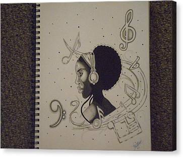 Heart Of Music Canvas Print by Mr Ambition