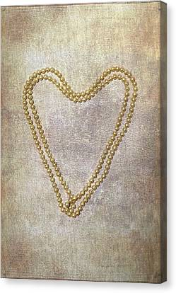 Heart Of Pearls Canvas Print