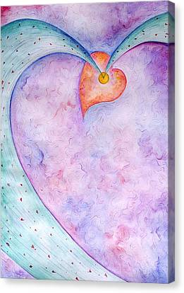Heart Of The Universe Canvas Print by Asida Cheng