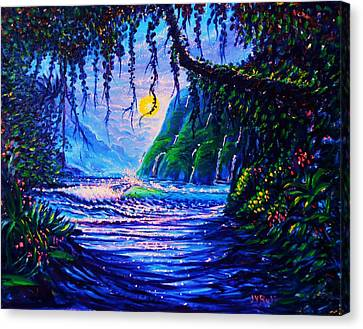 Heart Path To Paradise Canvas Print by Joseph   Ruff