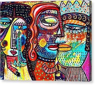 Heartbreak Dance Canvas Print by Sandra Silberzweig