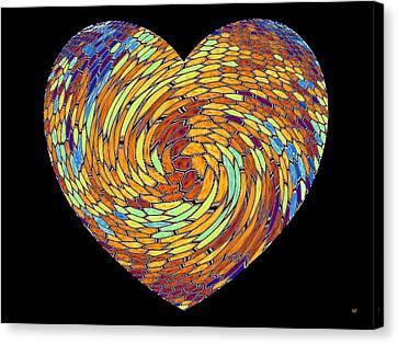 Heartline 8 Canvas Print