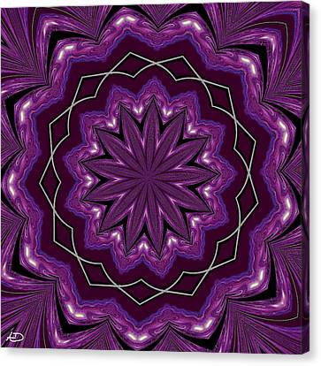 Canvas Print featuring the digital art Heather And Lace by Alec Drake