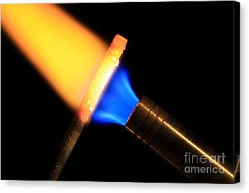 Heating Metal 3 Of 3 Canvas Print by Ted Kinsman
