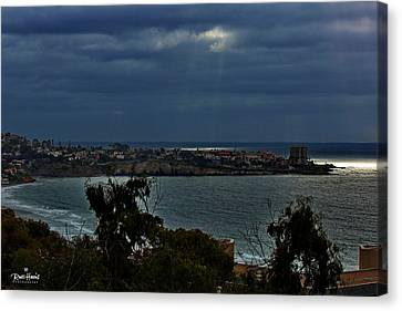 Heavely Spotlights Canvas Print by Russ Harris
