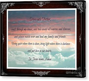Heavenly Father Prayer Canvas Print